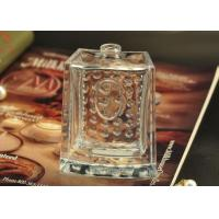 Quality 80ml Rectangle Empty Glass Perfume Bottle hobnail Pattern for Fragrances for sale