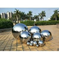Modern Artwork Stainless Steel Ball Sculpture Mirror Polished Surface Customized Size Manufactures