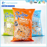 Quality Moisture Proof beatiful middle seal Plastic Packaging Bags pillow bag for food and nuts for sale