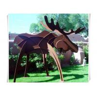 Buy cheap Animals Corten Steel Moose Statue , Abstract Style Rusted Steel Garden Art from wholesalers