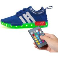 Mesh Tenis Trainer Remote Control LED Shoes Full Size Low Top Flyknit For Kids Manufactures