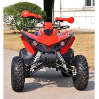 One Seat Electric Start 200CC ATV , Customized Red 4x4 Quad Bike Manufactures