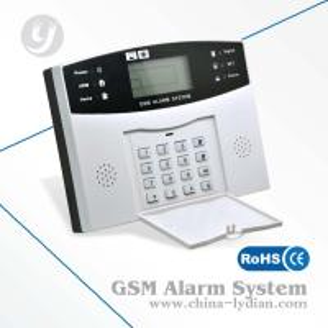 Wireless LCD Speech Household Gsm Security Alarm , 433MHz Burglar Alarm Manufactures