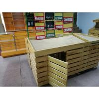 Supermarket Wooden Display Rack for Fruit And Vegetable Display Manufactures