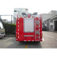 Quality 2x Halogen Lamp Tanker Fire Truck , 260 L/Min Flow Light Rescue Fire Trucks 4x2 Chassis for sale