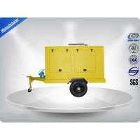 Quality 12 Cylinder 75dB quietest Trailer Mounted Generator large in - line Config with Dry oil filter for sale