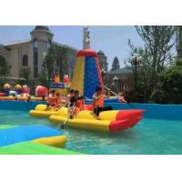 Quality 0.9mm PVC Tarpaulin Inflatable River Boats Rubber Drifting Boat For Lake , Big for sale