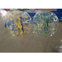 China Blue Dot Human Bubble Ball Adults / Children , 6kg Inflatable Bubble Football BB-PVC100 on sale