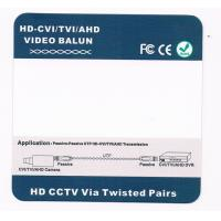 Quality 1CH Screwless HD-CVI / TVI / AHD passive Video Balun with Pigtail for sale
