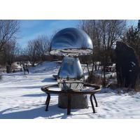 Contemporary City Outdoor Metal Sculpture Polished Stainless Steel materials Manufactures