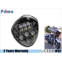 Quality 60W Cree Motorcycle LED Headlights High 3450LM Low 2800LM IP67 Waterproof for sale