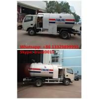 2016s new designed 2.3tons dongfeng LHD 4*2 mobile lpg gas refilling truck, best price lpg gas bobtail vehicle for sale Manufactures