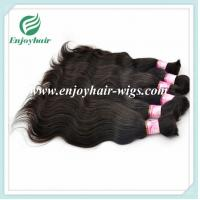Indian 5A virgin remy hair bulk ,natural color , body wave 10''-26''length hair extension Manufactures