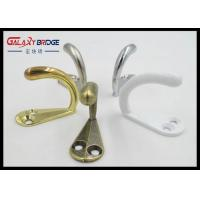 Anti Brass Solid Zinc Wall Clothes Hangers  Hooks White Simplel Towel Rack Manufactures