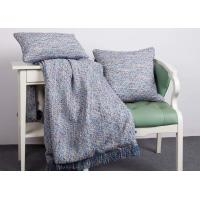 Elegant Decorative Pillow Covers , 100% Polyester Blue Throw Pillows For Couch Manufactures