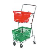 Commercial Four Wheel Double Basket Shopping Trolley Cart 520x425x1010mm Manufactures