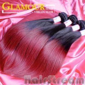 100% human ombre hair braiding hair ombre weave hair sew in human hair weave ombre hair Manufactures
