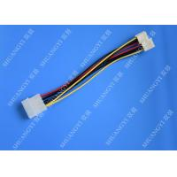 Hard Drive HDD SSD Cable Harness Assembly , Molex to Dual SATA Power Splitter Cable Manufactures
