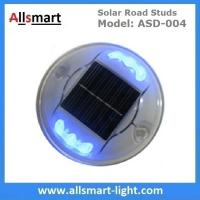 Solar Road Stud ASD-004 6pcs LEDs Solar Road Marker Solar Cat's Lights Solar Accent Lights Solar Security Lights Manufactures