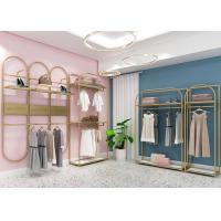 China Women Clothing Shop Clothes Display Stand With Customized Design on sale