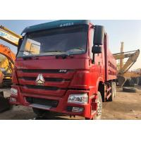 4 - 6L Engine Capacity Used Diesel Dump Trucks Howo 375 6x4 Year 2015 Red Color Manufactures