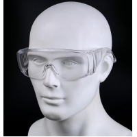 China Anti-Fog Protective Safety glasses Clear Lens Wide-Vision Adjustable Chemical Splash Eye Protective Soft Lightweight on sale