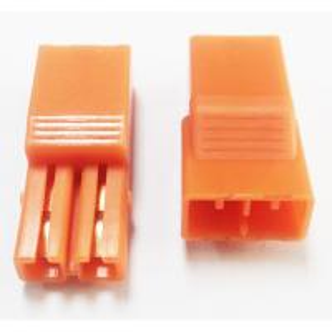 5.60mm Pitch 2P LED Connectors L=27.4  PA66 Orange Led Strip Connector Manufactures