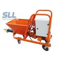 7.5KW Wet Ready Mixed Wall Cement Mortar Spraying Machine 30L / Min Orange Color Manufactures
