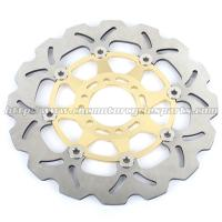 Aluminum Alloy Motorcycle Disc Brake Rotors / Front Brake Discs Manufactures