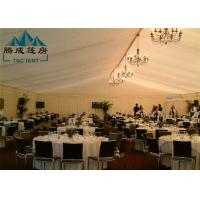 20m Width Fire Retardant A Shaped White Wedding Event Tents / Outdoor Wedding Reception Tent Manufactures
