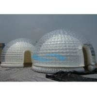 White Double Layer Exhibition Inflatable Dome Tent Fire Proof Manufactures