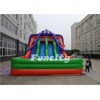 PVC Tarpaulin Inflatable Octopus Slide Inflatable Jumping Slide 10 X 6 X 6m For Kids Manufactures