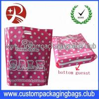 Colorful Printed Recycle Merchandise HDPE / LDPE Die Cut Handle Plastic Bags For Shopping Manufactures