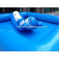 Quality Small Light Blue Inflatable Water Pool Toys For Water Totter , PVC Tarpaulin for sale