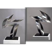 Customized Modern Stainless Steel Art Sculptures Indoor Decorative Brushed Finishing Manufactures