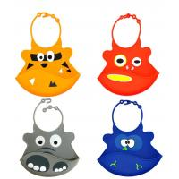Baby products Self-marketing silicone saliva silicone rice round silicone waterproof bib Manufactures
