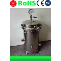 Stainless Steel Water Filter Housing 10 inch 3 cores 304/316 material Manufactures