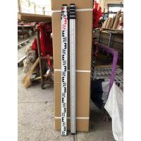 China 5m Telescopic Aluminium Surveying Leveling Staff With Bubble on sale