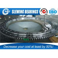 Heat Treatment Cement Mixer Ring Gear Slewing Bearing With Large Diameter Manufactures