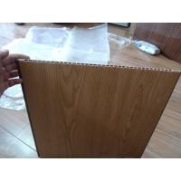 Heat Insulation PVC Wall Panel Wooden Color 40cm x 12mm For Office Decor