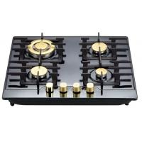 Stainless Steel 4 Hob Gas Cooker , Built In Four Burner Gas Stove 580*500mm Manufactures