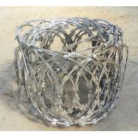 Razor Barbed Wire Flat Wrap Coils 500mm Diameter Galvanized For Sale Manufactures