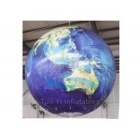 Durable PVC Earth Globe Balloons Inflatable Earth Map Ball with LED Light Manufactures