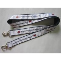 China High Quality Personalized Satin Ribbon Overlaid Double Ends Lanyard Direct Factory on sale