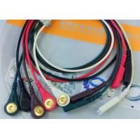 LL Style ECG Monitor Cable , 5 Leads Snap AHA Ecg Cables And Leadwires Manufactures