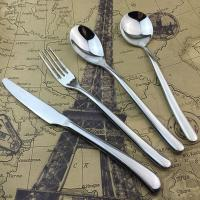 Silver Stainless Steel Cutlery Dinner Knife / Fork / Spoon High-grade Banquet Tableware Manufactures