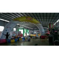 PVC Tarpaulin / Oxford Cloth Inflatable Advertising Products , Inflatable Advertising Arch Manufactures