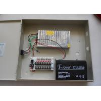 9 Channel IEC CCTV Power Supplies For Surveillance Camera , Back Up Battery 13.8V Manufactures