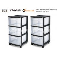 Buy cheap Stackable Mobile Plastic Storage Drawers On Wheels Rollers Castors Portable from wholesalers