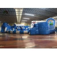 China Adult Outdoor Inflatable Water Parks , Pool Obstacle Course Play Equipment on sale